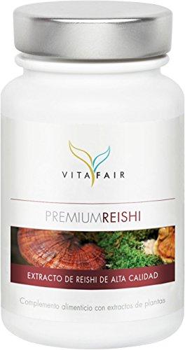 Reishi, Mannetake, Yoengji, Linh Chi o Ling Zhi:Cada cápsula VITAFAIR Premium Reishi contiene500 mg de extracto del hongo Reishi(cuerpo fructífero),30% de los cuales son (150 mg) polisacáridos. Los polisacáridos altamente efectivos son conocidospor...
