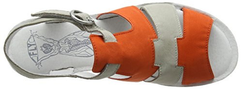 Fly London Yuni188fly, Sandali a Punta Aperta Donna Arancione (Poppy Orange/cloud)