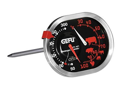 GEFU 21800 Messimo Braten- und Ofenthermometer 3 in 1 aus Edelstahl für Backofen & Grill - Bratenthermometer für Fleisch