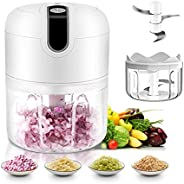 Electric Garlic Chopper, Powerful Food Chopper, Updated Powerful Motor, 250ml Portable And USB Rechargeable, 3