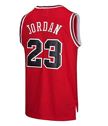 on sale 3a943 487fc MTBD NBA Michael Jordan, NO.23 Bulls Retro, Camiseta de Jugador de  Básquetbol, Bordado Transpirable y Resistente al Desgaste, Camiseta de Fan  de ...