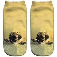 TDPYT 5 Unids/Kawaii 3D Imprimir Calcetines Mujeres Harajuku Tobillo Perros Mujer Calcetín Divertido Lindo Emoji Calcetín Corto