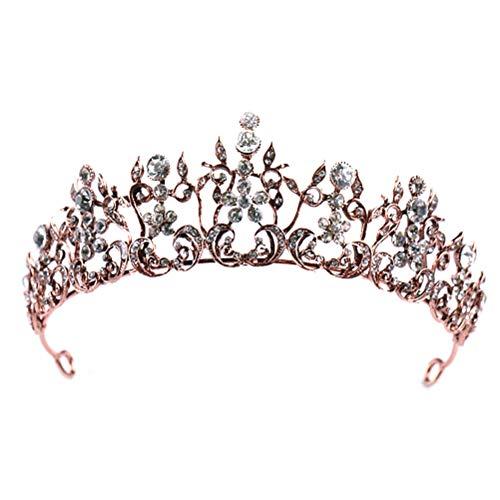 Corona diamantes imitación nupcial Tiara Prom Queen