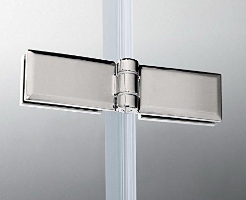 90x195cm Duschabtrennung Duschtür Nischentür Echtglas mit Nanobeschichtung (HN90-2E V2+1B V2) - 3