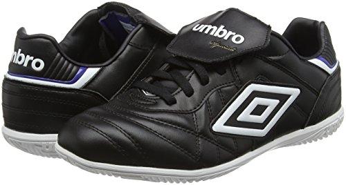 Umbro Speciali Eternal Premier Ic, Chaussures de Football homme Noir - Black (Black/White/Clematis Blue)