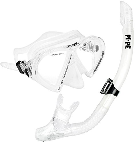PI-PE Taucherbrille & Schnorchel Set Active Transparent