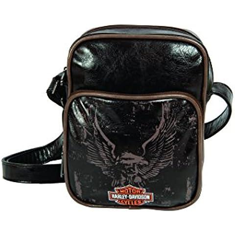 Exclusiv * Harley Davidson borsa a tracolla borsa 21x 18cm acciaio pelle Look motore