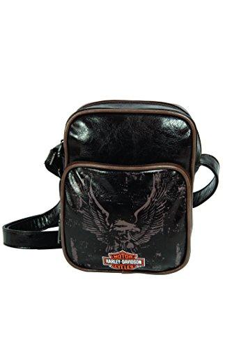 Harley Davidson - Borsa a tracolla effetto pelle, 21 x 18 cm