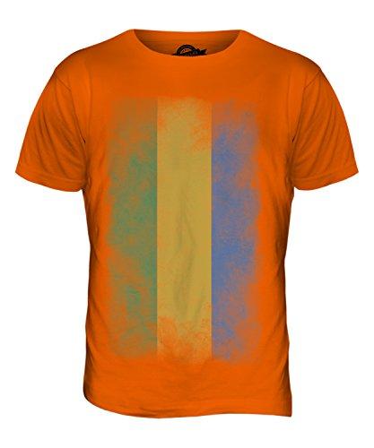 CandyMix Gabun Verblichen Flagge Herren T Shirt Orange