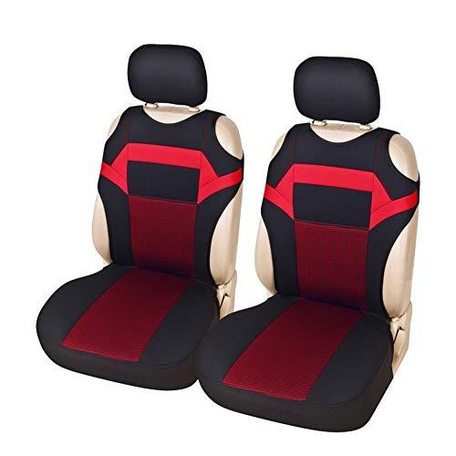 VIVIANE Coprisedile For Auto, Imbottitura Di Protezione For Seggiolino Auto, Coprisella GM Design T-shirt, Adatto For Sedili Anteriori (3 Colori Opzionali) (Color : Red seat cover)