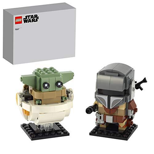 LEGO 75317 BrickHeadz Star Wars - Der Mandalorianer und das Kind, Baby Yoda, Bauset (295 Teile)
