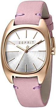 Esprit Womens Quartz Watch, Analog-Digital Display and Leather Strap, ES1L038L0065