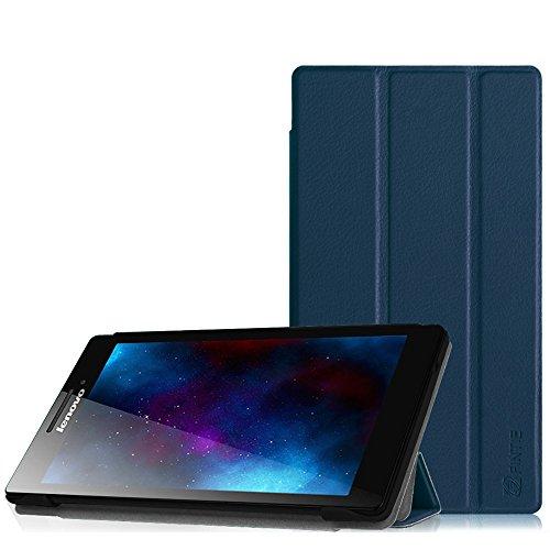 Fintie Lenovo Tab 2 A7-10 Hülle Case - Ultra-schlank superleicht Ständer SlimShell Cover Schutzhülle Etui Tasche für Lenovo Tab 2 A7-10 17,8 cm (7 Zoll IPS) Tablet, Marineblau