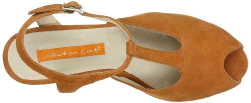 Andrea Conti 0615317, Sandali col tacco donna Arancione (Orange (orange 025))