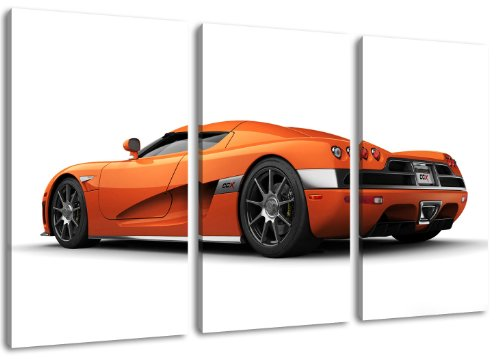 koenigsegg-orange-3-teilig-auf-leinwand-gesamtformat-120x80-cm-fertig-gerahmte-kunstdruckbilder-als-