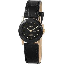 Akzent Damen-Uhren mit Polyurethan Lederband SS73010000012