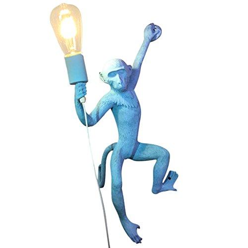 ZWD Animal Cartoon Lustre, Créatif Bleu Vêtements Magasin Résine Lustre Enfants Chambre Décoration Lustre Chanvre Corde Lustre Mur Lampe Lampe De Table Lampe de Plancher Luminaire (Couleur : B)