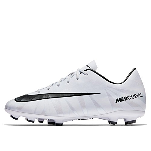 Nike Kids' Jr. Mercurial Victory VI CR7 FG Soccer Cleat (Blue Tint, White) (2.5Y)