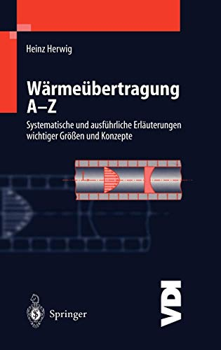 Wärmeübertragung A-Z: Systematische und ausführliche Erläuterungen wichtiger Größen und Konzepte (VDI-Buch)