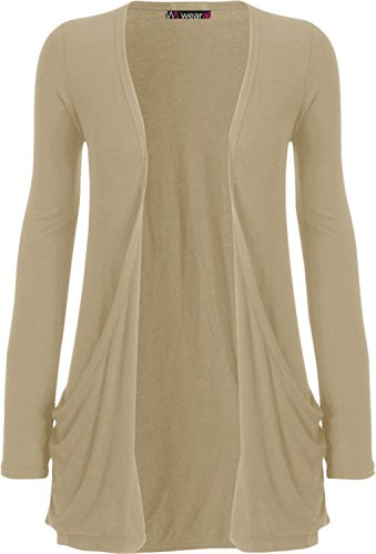 WearAll - pocket cardigan à manches longues - Hauts - Femme - Tailles 36-50 Pierre