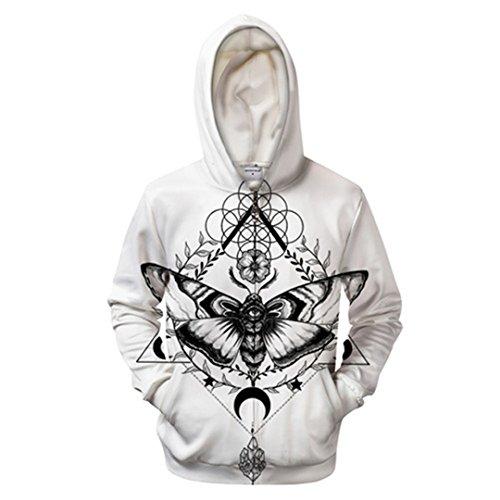 Motte von Pixie Coldarts 3D-Zip Hoodies Men Zipper Sweatshirt Groot Trainingsanzug Hoody Pullover Mantel Schmetterling Tropfenschiff Zip 416 XXXL