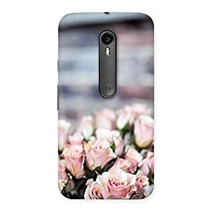 Neo World Pink Subtle Roses Back Case Cover for Moto G Turbo