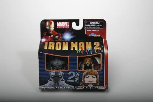 Marvel Minimates Series 35 Mini figurine 2Pack Hammer Drone & Pepper Potts | à Gagnez Un Haut Admiration