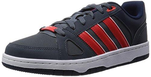adidas Herren Hoops Team Turnschuhe Gris / Rojo / Blanco (Plomo / Rojbri / Ftwbla)