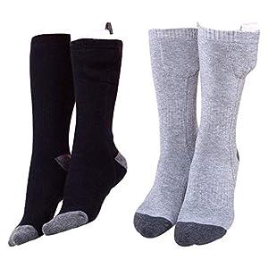 Hete-supply Elektrische Batterie Beheizte Socken Kit Kaltes Wetter Baumwolle Thermosocken Batteriebetriebene Sox-Temperatur einstellbar Winter Fußwärmer Zehen für chronisch kalte Füße