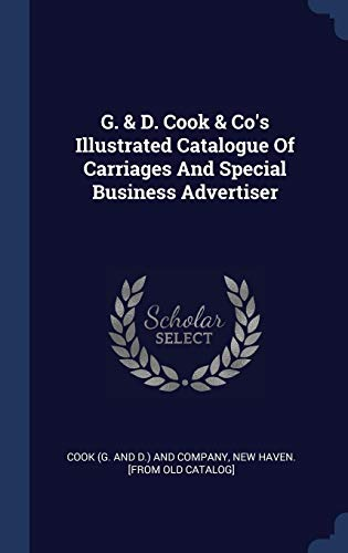 G. & D. Cook & Co's Illustrated Catalogu
