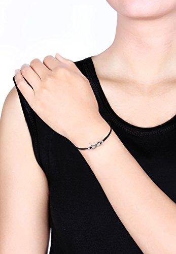 Elli - Bracelet Cordon Infini - Argent 925 - 17 cm Argenté