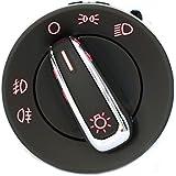 Baytter Interruptor de la luz Interruptor de faros Cromo NSW para VW Golf 4 5 6 Jetta Passat Caddy Touran New Beetle Seat Polo Lupo Skoda - für Golf 4