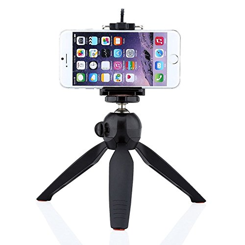 Unifree Mini Tripod + Universal Holder Clip, YT-228-A for Digital Camera & iPhone 7, 7s, 7s Plus, 6 Plus 6 5S 5C 4S & Samsung, Oppo, ViVo, Redmi, Coolpad, micromax, lenevo, Etc., Smartphones and Selfie Sticks/DSLR holder by Digital Wings