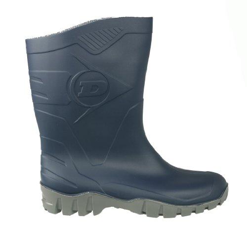 Dunlop Botas de DEE Corta–Botas de Lluvia Botas, Botas de Trabajo, Color Azul, Talla 45