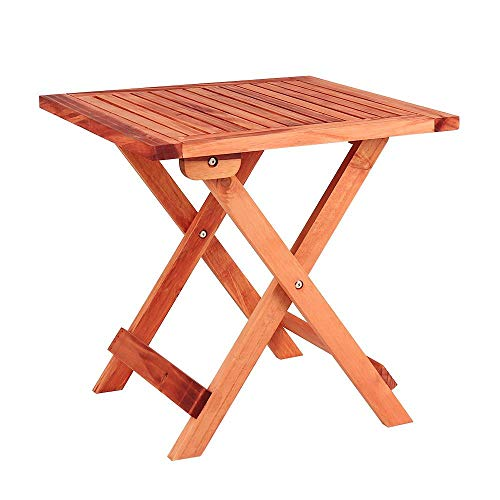 Wido Wooden Garden Side Square Table 45 x 45 cm Folding Bistro Patio Outdoor Furniture