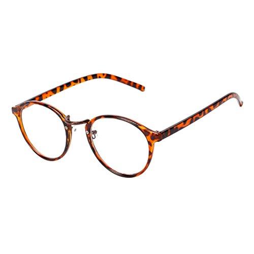 NoyoKere Mens Womens Vintage Nerd Brille Klare Linse Brillen Unisex Plain Klar Brillen Brille Titan...