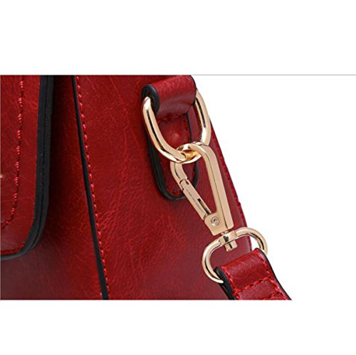 DHFUD Damen PU Schultertasche Handtasche Crossbody Einfache Vintage Grayfashion