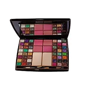 7 heaven Women's Makeup Kit 48 Colour Makhmali Eyeshadow with 4 BLU sher+2 Compact Powder 65g(HV002)