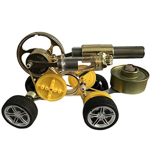 Haunen Stirlingmotor Auto Modell Kit Stirling Motor Bausatz DIY Stirling Engine Kit Pädagogisches Spielzeug für Kinder
