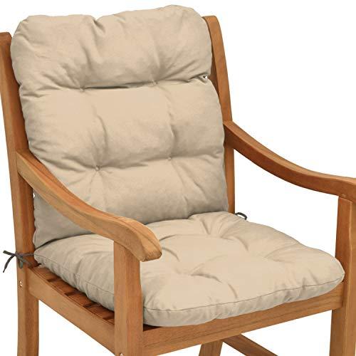 Beautissu cuscino per sedie da giardino flair nl100x50x8cm - comoda e soffice imbottitura - ideale anche per spiaggine - beige