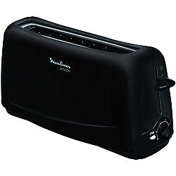 Moulinex Grille-Pain Principio Toaster Fentes Larges Thermostat Réglable Noir 1000W TL110800