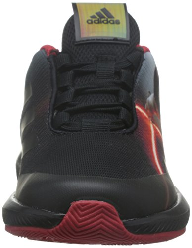 adidas Star Wars K, Sneakers Basses Mixte Enfant Noir (Negbas/granat/dormet)
