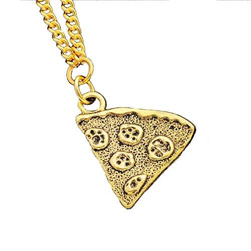 MJartoria Antik Gold Farbe Pizza Slice Halskette freundschaftsketten Stück 1