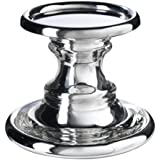 IKEA SKIMMER Block candle holder, glass, silver color
