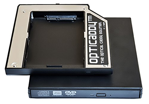 Opticaddy© SATA-3 HDD/SSD Caddy Adapter KIT mit externe USB-Gehäuse für optisches Laufwerk für Lenovo Thinkpad R400, R500, T420, T430, T510, T520, T530, W510, W520, W530, W700, W710 - mit Opticaddy OptiSpeed Technologie