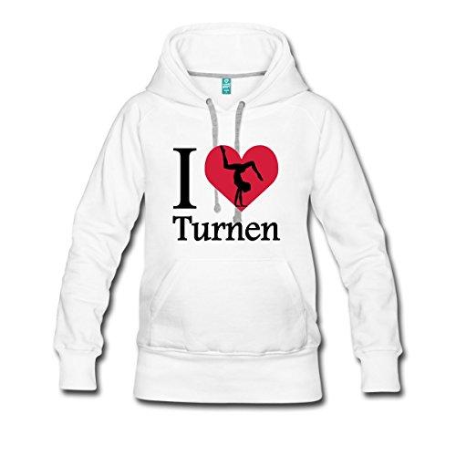 I love Turnen Frauen Premium Hoodie von Spreadshirt®