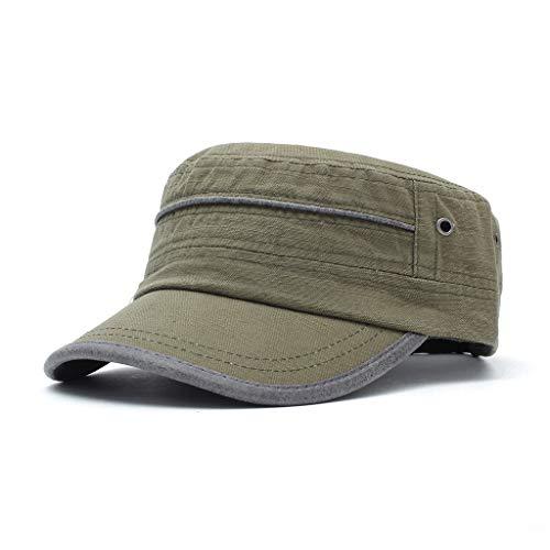 Kostüm Floppy Schwarzen Hut - XF Herren/Damen Schirmmütze, 2019 Shade Sunscreen Casual Hat, Frühling Sommer Atmungsaktiv Verstellbarer Hut - Baumwolle-Green