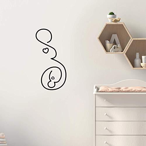 nyl, Motiv Schwangere Frau, 76,2 x 38,1 cm, modern, süße, charmante Eltern, Unisex Baby Kleinkind Kinderzimmer, Wohnzimmer, Kinderzimmer, Spielzimmer, Indoor Outdoor ()