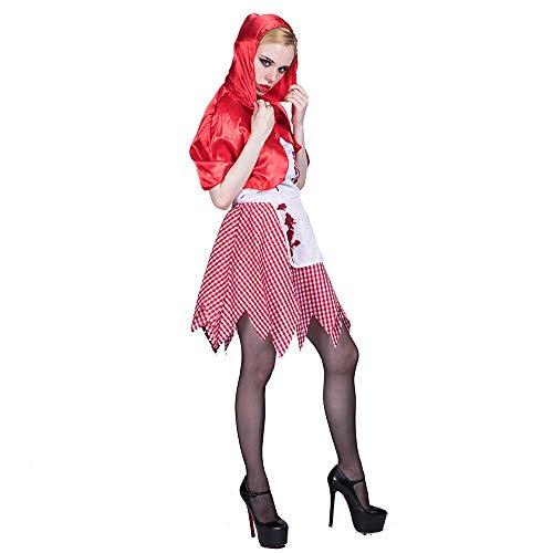 WANLN Halloween Horror Kostüm Halloween Boutique Outfits Halloween Kostüme Damen,Rot,S (Boutique Kostüm)