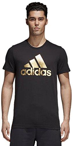 Adidas cv4507, t-shirt uomo, nero, l